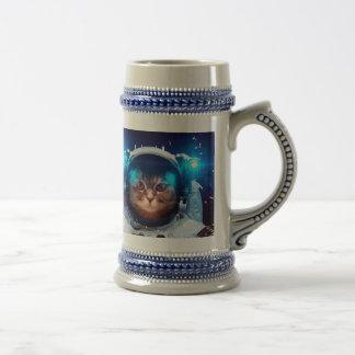 Cat astronaut - cats in space  - cat space beer stein