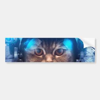 Cat astronaut - cats in space  - cat space bumper sticker