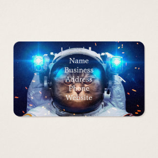 Cat astronaut - cats in space  - cat space business card