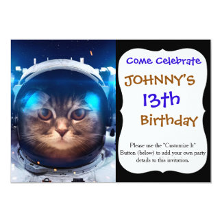 Cat astronaut - cats in space  - cat space card