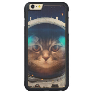 Cat astronaut - cats in space  - cat space carved maple iPhone 6 plus bumper case