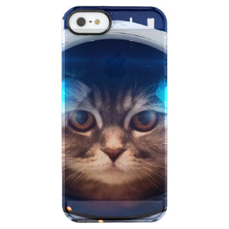 Cat astronaut - cats in space  - cat space clear iPhone SE/5/5s case