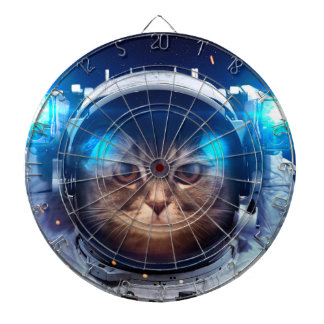 Cat astronaut - cats in space  - cat space dartboard