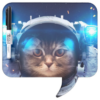 Cat astronaut - cats in space  - cat space dry erase board