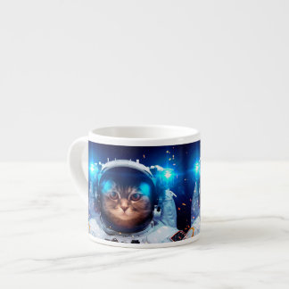 Cat astronaut - cats in space  - cat space espresso cup