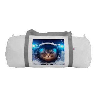 Cat astronaut - cats in space  - cat space gym duffel bag