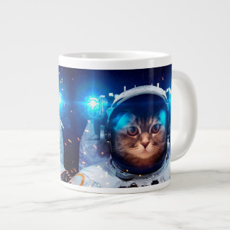 Cat astronaut - cats in space  - cat space large coffee mug