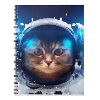Cat astronaut - cats in space  - cat space notebook