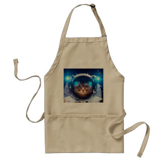 Cat astronaut - cats in space  - cat space standard apron