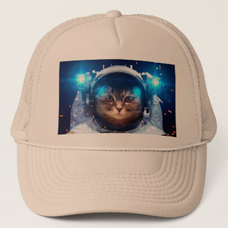 Cat astronaut - cats in space  - cat space trucker hat