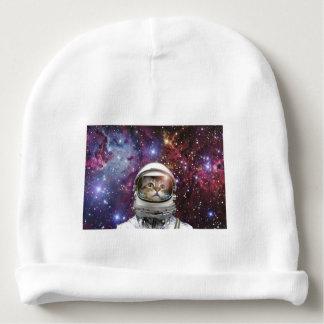 Cat astronaut - crazy cat - cat baby beanie