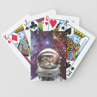 Cat astronaut - crazy cat - cat bicycle playing cards
