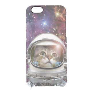 Cat astronaut - crazy cat - cat clear iPhone 6/6S case
