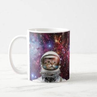 Cat astronaut - crazy cat - cat coffee mug