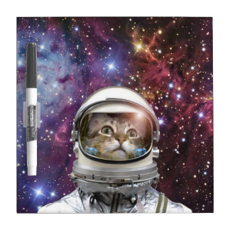 Cat astronaut - crazy cat - cat dry erase board