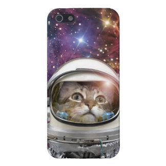 Cat astronaut - crazy cat - cat iPhone 5/5S cover