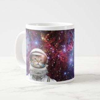 Cat astronaut - crazy cat - cat large coffee mug