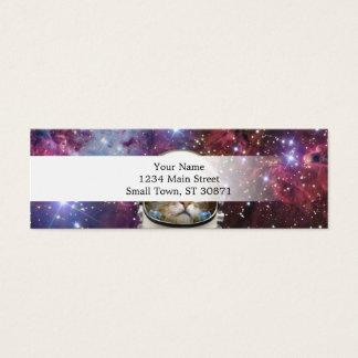 Cat astronaut - crazy cat - cat mini business card