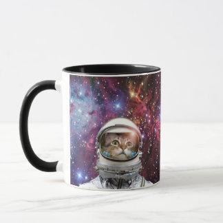 Cat astronaut - crazy cat - cat mug