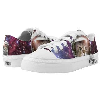 Cat astronaut - crazy cat - cat printed shoes