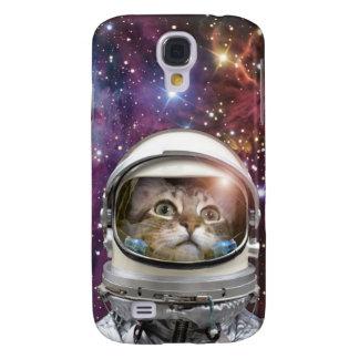 Cat astronaut - crazy cat - cat samsung galaxy s4 covers