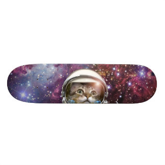 Cat astronaut - crazy cat - cat skateboard