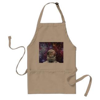 Cat astronaut - crazy cat - cat standard apron