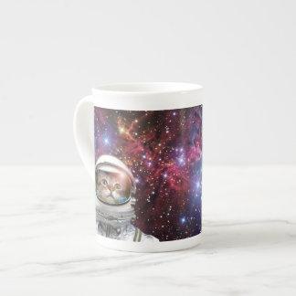 Cat astronaut - crazy cat - cat tea cup