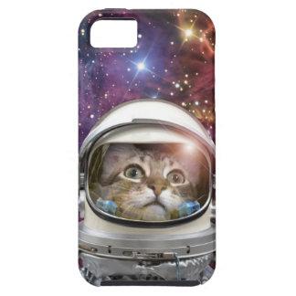 Cat astronaut - crazy cat - cat tough iPhone 5 case