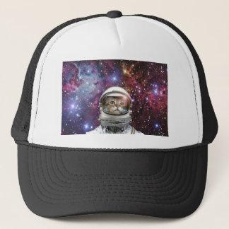 Cat astronaut - crazy cat - cat trucker hat
