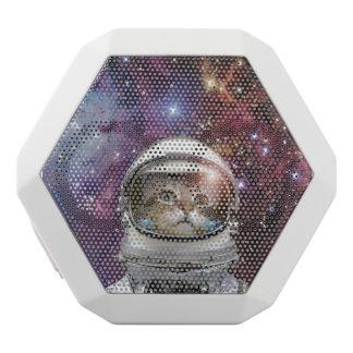 Cat astronaut - crazy cat - cat white bluetooth speaker