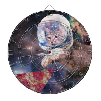 cat astronaut - funny cats - cats in space dartboard