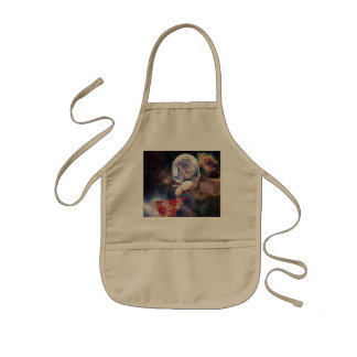 cat astronaut - funny cats - cats in space kids apron