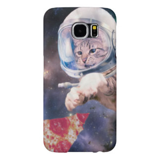 cat astronaut - funny cats - cats in space samsung galaxy s6 cases