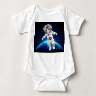 Cat astronaut - space cat - Cat lover Baby Bodysuit
