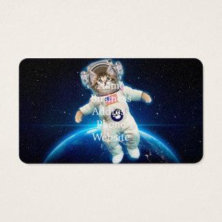 Cat astronaut - space cat - Cat lover Business Card