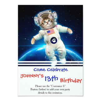 Cat astronaut - space cat - Cat lover Card