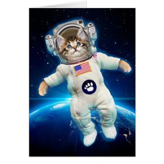 Cat astronaut - space cat - Cat lover Card