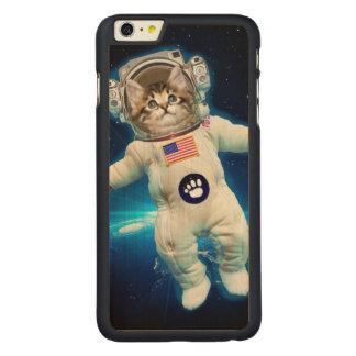 Cat astronaut - space cat - Cat lover Carved Maple iPhone 6 Plus Case