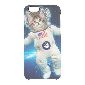 Cat astronaut - space cat - Cat lover Clear iPhone 6/6S Case
