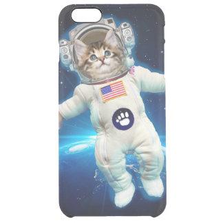 Cat astronaut - space cat - Cat lover Clear iPhone 6 Plus Case