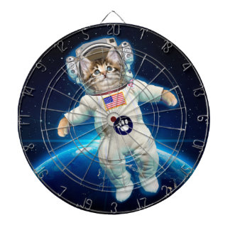 Cat astronaut - space cat - Cat lover Dartboard
