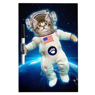 Cat astronaut - space cat - Cat lover Dry Erase Board