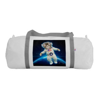 Cat astronaut - space cat - Cat lover Gym Duffel Bag