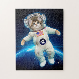 Cat astronaut - space cat - Cat lover Jigsaw Puzzle