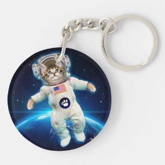 Cat astronaut - space cat - Cat lover Key Ring