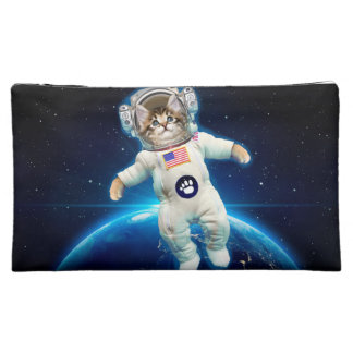 Cat astronaut - space cat - Cat lover Makeup Bag