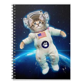 Cat astronaut - space cat - Cat lover Notebook