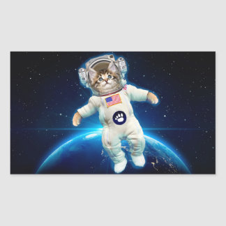 Cat astronaut - space cat - Cat lover Rectangular Sticker