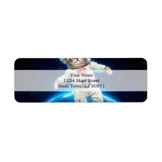 Cat astronaut - space cat - Cat lover Return Address Label